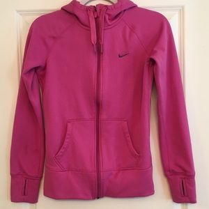 Nike pink therma-fit jacket xs with thumb holes